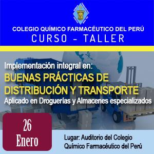 Curso Taller Implementación integral en Buenas Prácticas de Distribución y Transporte