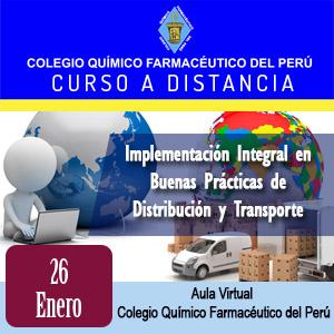 CURSO TALLER A DISTANCIA - Implementación Integral en Buenas Prácticas de Distribución y Transporte