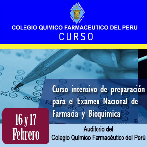 Curso intensivo de preparación para el Examen Nacional De Farmacia Y Bioquímica