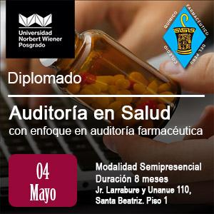 Diplomado en Auditoría en Salud con enfoque en auditoría farmacéutica