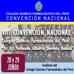 VIII Convención Nacional del Colegio Químico Farmacéutico del Perú