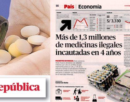 """Diario La República publica artículo """"Más de 1,3 millones de medicinas ilegales incautadas en 4 años"""""""