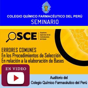 Seminario OSCE - Errores Comunes en los Procedimientos de Selección