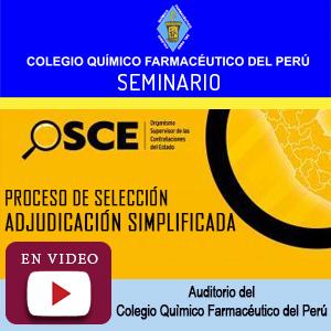 OSCE – PROCESO DE SELECCIÓN – Adjudicación Simplificada