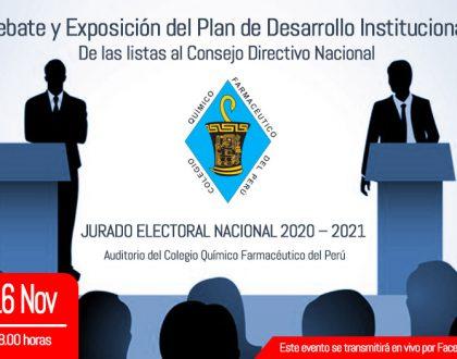 Debate y exposición del Plan de Desarrollo Institucional