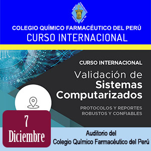 Curso internacional Validación de Sistemas Computarizados