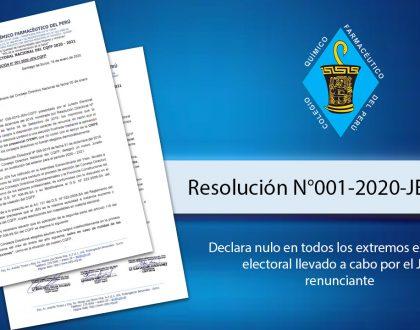 Resolución N°001-2020-JEN-CQFP