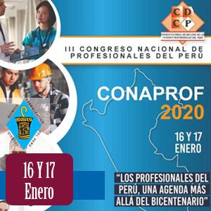 III Congreso Nacional de Profesionales del Perú - CONAPROF 2020