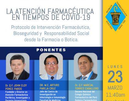 LA ATENCIÓN FARMACÉUTICA  EN TIEMPOS DE COVID-19