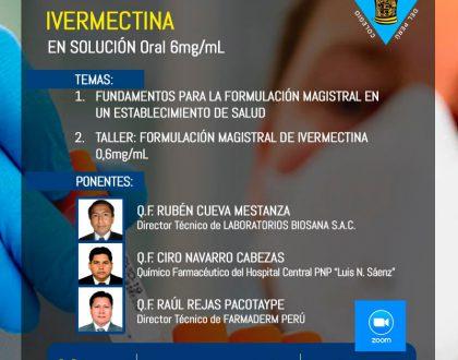 Curso Taller de Formulación Magistral de Ivermectina en Solución Oral