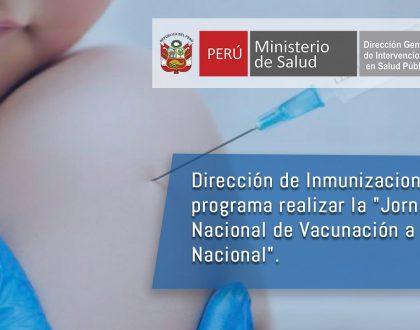 """Dirección de Inmunizaciones realizará  """"Jornada Nacional de Vacunación a Nivel Nacional"""""""