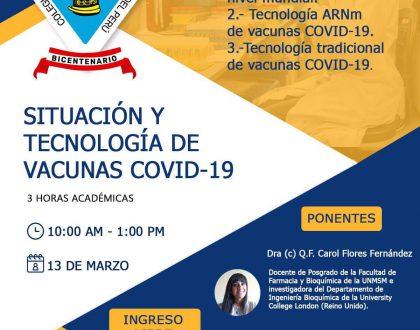 Conferencia: Situación y Tecnología de Vacunas COVID-19