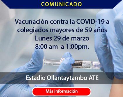 Vacuna 29 Marzo - Primera dosis